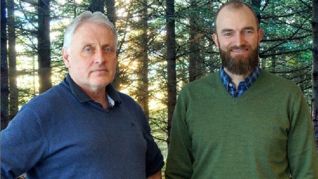 Ole Hveem, Akershus Traktor AS (t. v.) og Ole Thomas Fladby, Skogteknikk AS.
