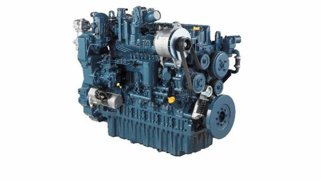 Kubota S7509 dieselmotor har seks sylindre med et volum til sammen 7,5 liter.