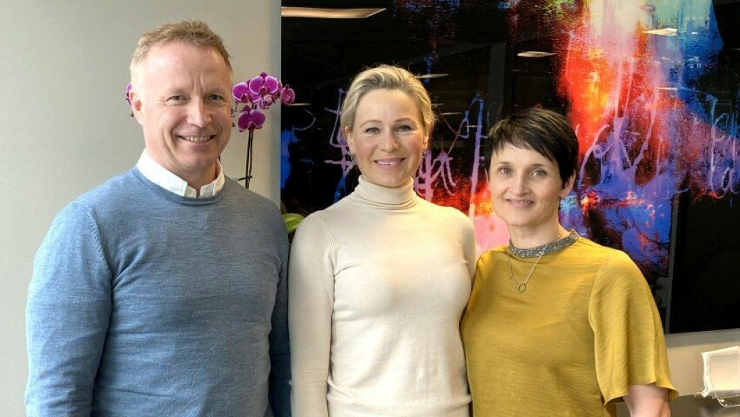 Ronny Engbretsen i Øie Eiendomsutvikling, Katharina Hernæs i AF Eiendom, Britt Tøsse Aandal i Wenaas Kapital.
