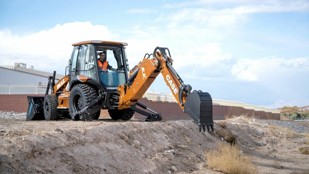 Elektriske Case 580 EV ble lansert i forbindelse med Conexpo i Las Vegas i mars 2020.
