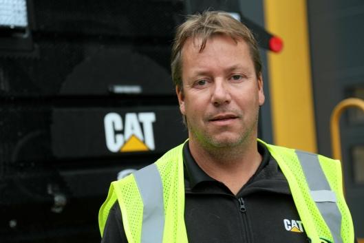 PRODUKTSJEF: Glenn Thorén har ansvaret for asfalt- og kompakteringsmaskinene hos Cat-forhandler Pon Equipment AS.