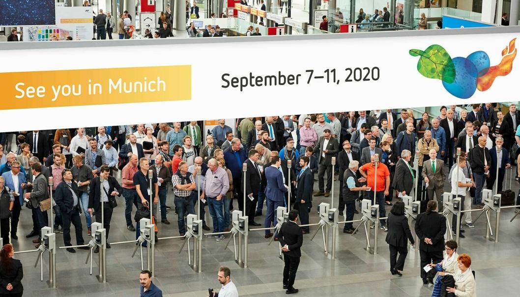 Messe München har sendt ut dette bildet der de ønsker velkommen til Ifat 2020 7.-11. september.