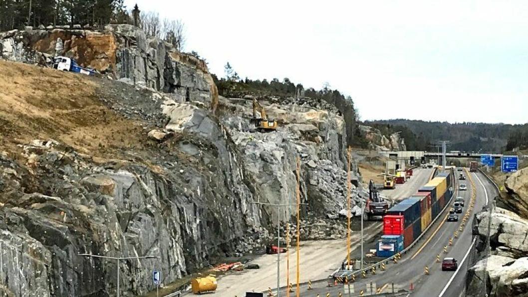 Det avdekkes, bokstavelig talt, stadig mer jobb i berget ved E18 Bommestad i Vestfold.