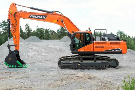 MYE MUSKLER: Doosan-maskinene er kjent for stort motorvolum og omtales ofte som stabile og sterke maskiner.