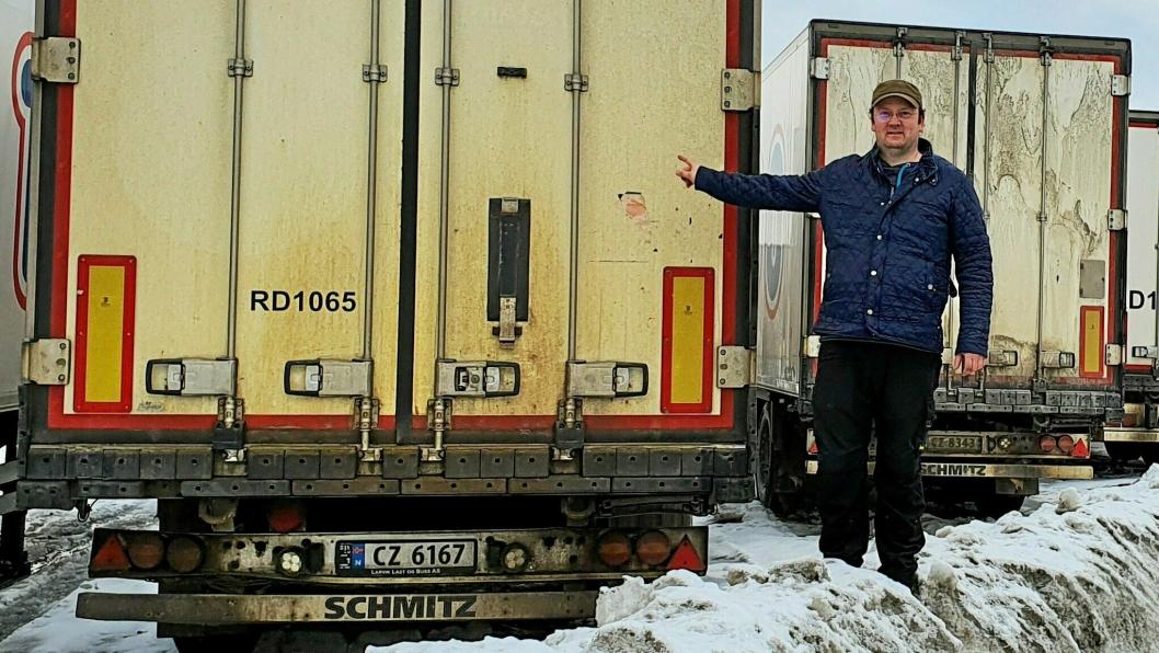 Oddbjørn Iversen har hatt oppfinnelsen Clean Cargo klar på tegnebrettet i mange år. Nå håper han å få den realisert. - Jeg har vært i dialog med flere store transportører og grossister som synes ideene er spennende og ønsker å benytte seg av løsningen, sier han.