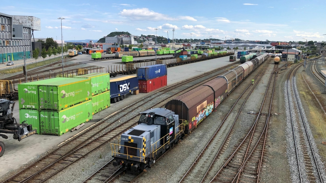 Alle strekninger har merket en økning i godstrafikken. Her fra Brattøra i Trondheim.
