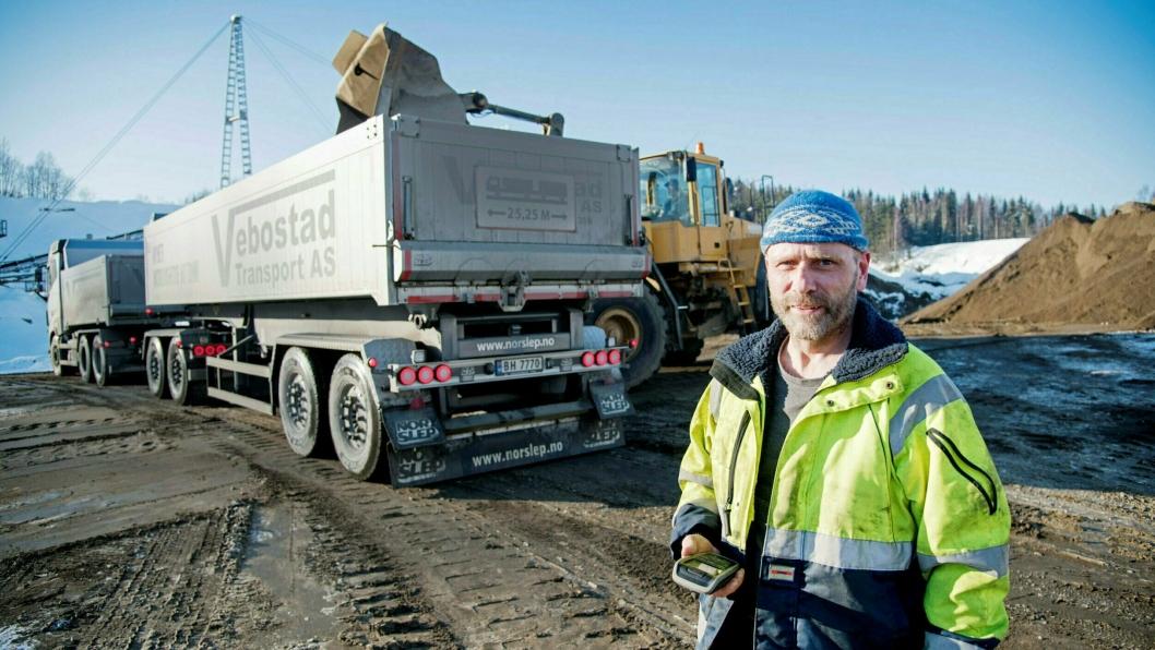 SNART SLUTT: Knut Vebostad frykter oppbud er eneste utvei for hans selskap Vebostad Transport.