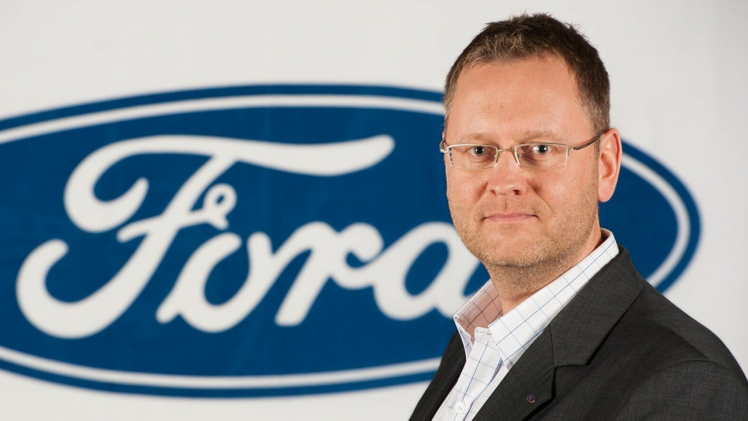 Med «No Touch»-servicen vår kan kundene være helt trygge på at kjøretøyet er desinfisert når det blir levert ut, sier administrerende direktør i Ford Motor Norge, Per Gunnar Berg.