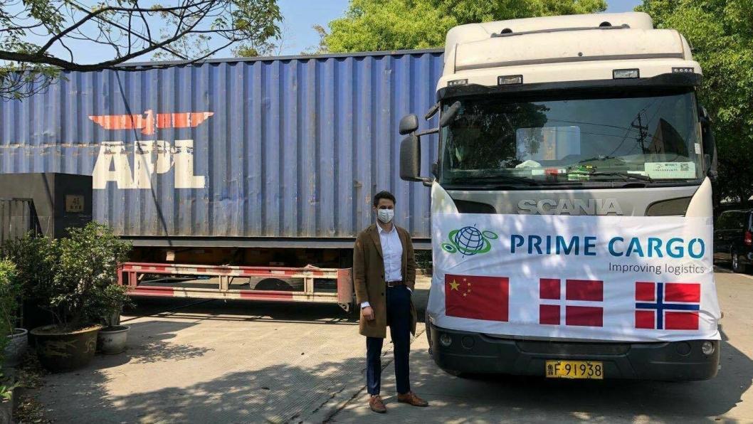 Wilhelm Georg Blomdal jobber for Prime Cargo i Kina, og har fått i stand transporten.