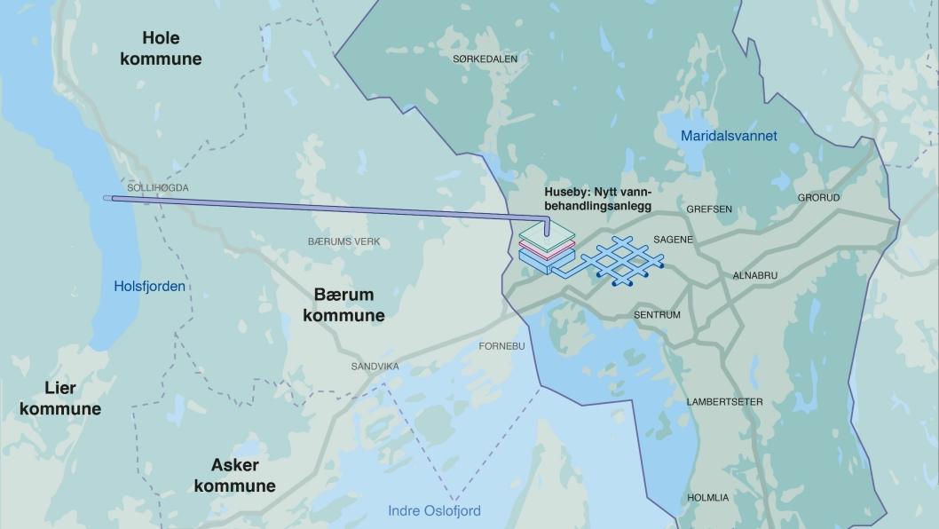 Ny reservevannløsning fra Holsfjorden i Buskerud til Oslo skal være på plass innen 2028.