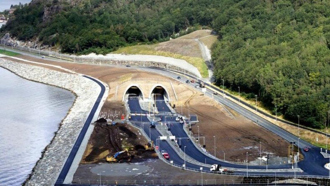 Tunnelåpningen på Solbakk i Ryfylke.