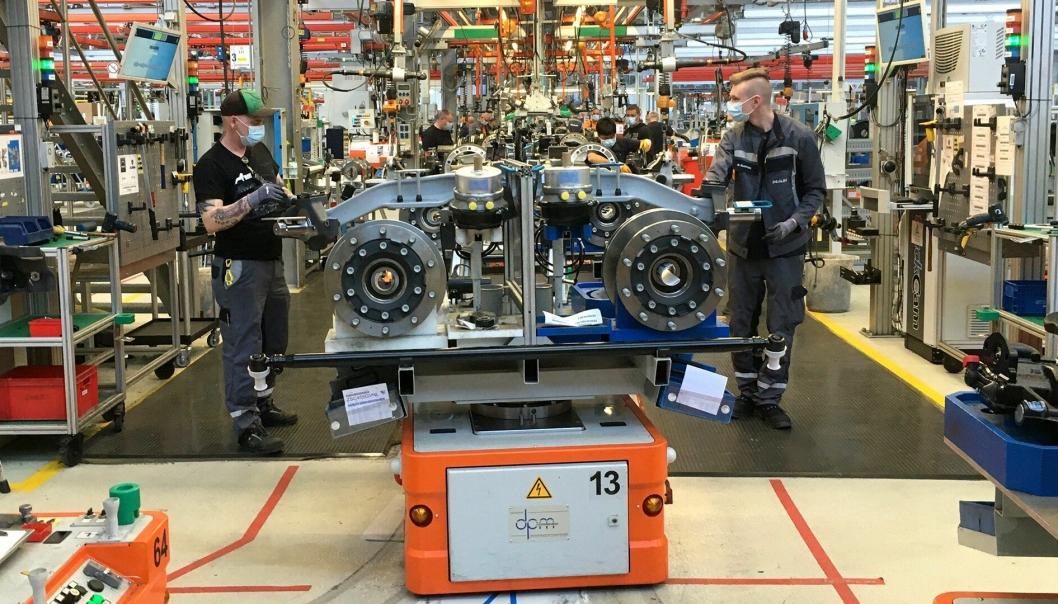 Produksjonen starter så smått opp igjen ved MANs fabrikker i Europa etter Covid-19-nedstengingen.