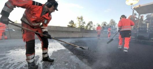 Årets asfaltsesong på riksvei