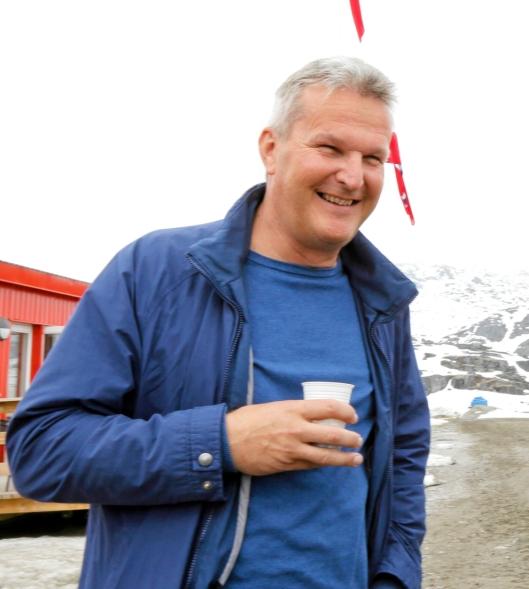 Arkivbilde (Grønland 2017) av Gunnar Moe, adm. direktør i Rana Gruber AS.