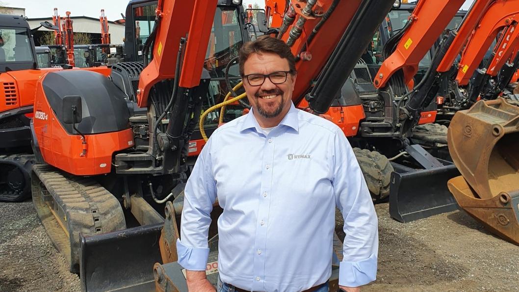 Kenneth Mikkelsen er sjefen for brukt hos Hymax.