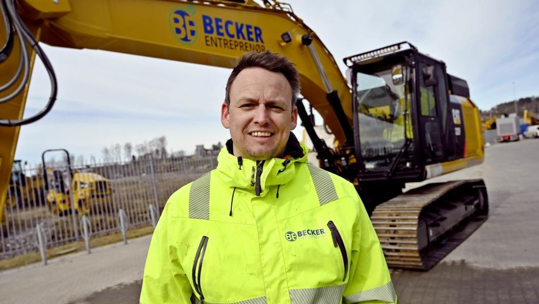 STØRST: Til nyttår har Hans-Erik Becker og Becker Entreprenør fem helelektriske gravemaskiner i drift. De to første blir levert i mai.
