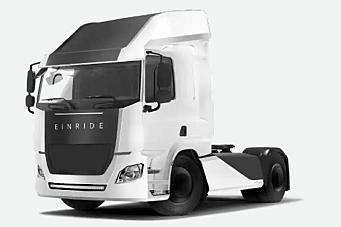 El-lastebiler fra Einride - nå MED førerhus