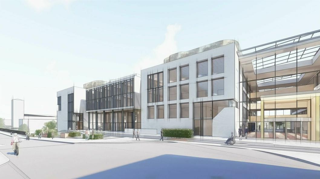 Strøm Gundersen har fått i oppdrag å bygge om Kommunegården i Sandvika for Bærum Kommunale Pensjonskasse.