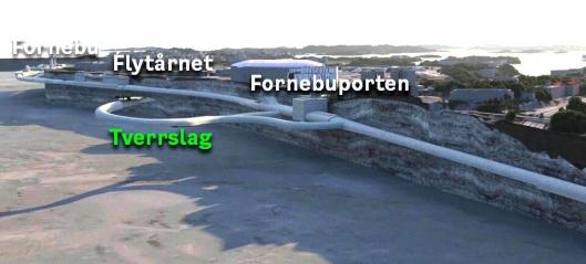 Fornebubanens første store tunnelentreprise