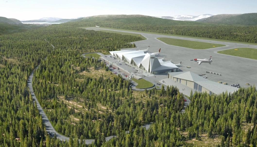 Flyplass Mosjøen Polarsirkelen lufthavn.