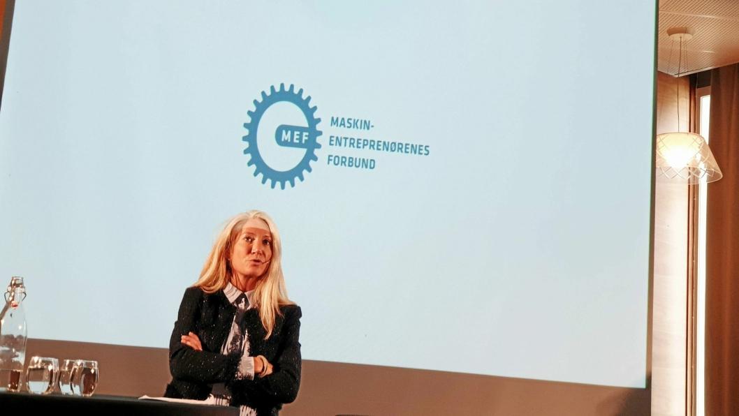 IKKE FORNØYD: MEF og Julie Brodtkorb.