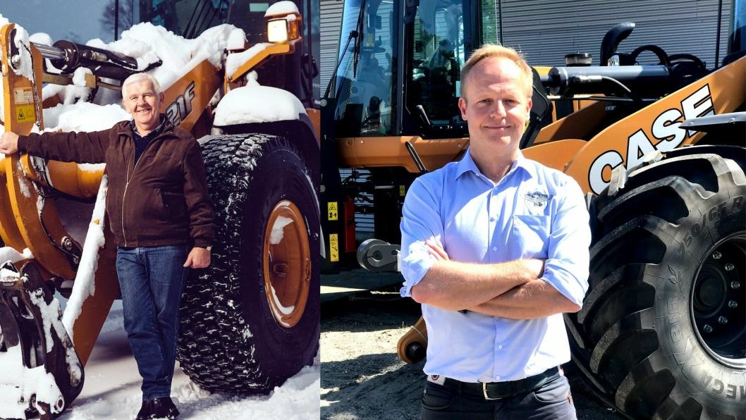 Reidar Dagenborg (t.v.) er grunnlegger av Dagenborg Maskin AS og Palle Kjærsgaard er adm. direktør i SD Kjærsgaard AS.