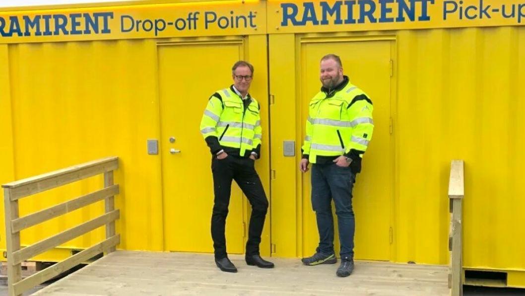HENTE- OG LEVERINGSSENTRAL: Ramirent har etablert en egen digital hente- og leveringssentral på Alnabru. – Det betyr at hvis du bestiller et produkt før 15.00 på dagtid så kan det hentes ut når som helst på døgnet, sier kundesenterleder Arne Tønsberg.