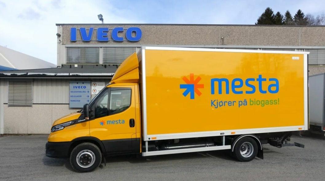 Iveco leverte biogassbil til Mesta.