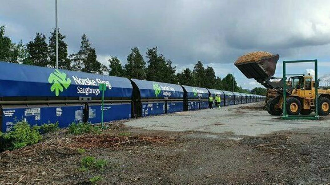 Treindustribedriften Gausdal Bruvoll i Oppland lager byggematerialer i tre. Flis er sidestrøm i produksjonen og blir fraktet til Norske Skog Saugbrugs i Halden der det blir til ulike typer magasinpapir. (Foto: Finn Arne Bjørnstad, Norske Skog Saugbrugs AS)