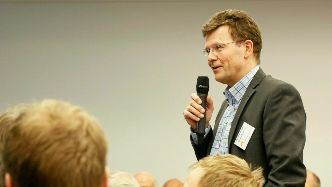 Adm. direktør Ivar Fossum i Nordic Mining har fått klarsignal til å starte driften i Engebø-prosjektet. Bildet ble tatt da han var på årsmøte Norsk Bergindustri i Oslo mars 2017.