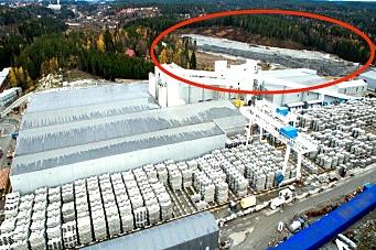 Over 300.000 vogntog-lass lagret ved tunnelen
