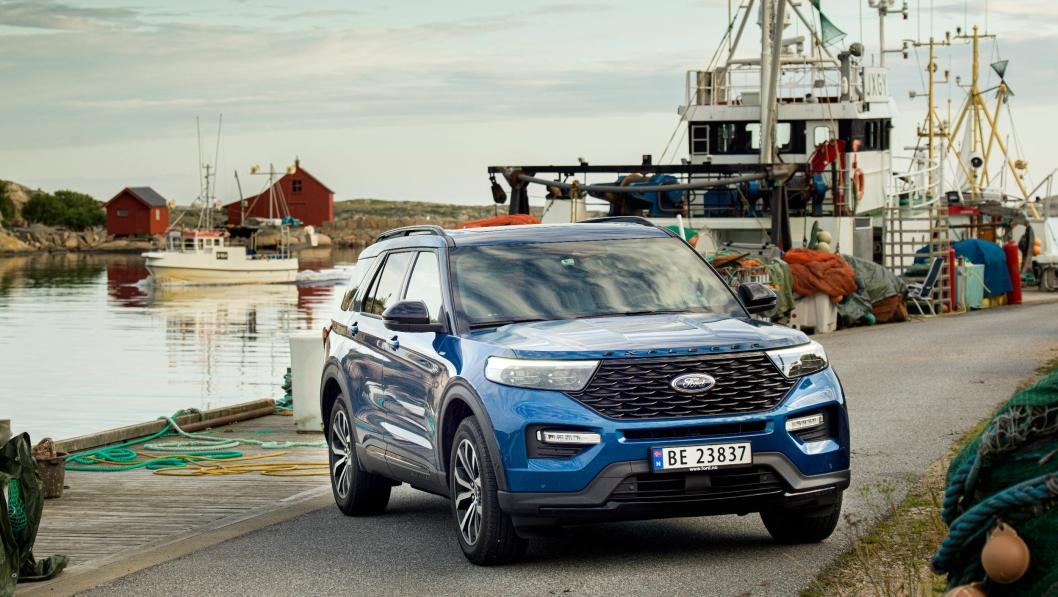 Ford Explorer PHEV er nå på plass i Norge.