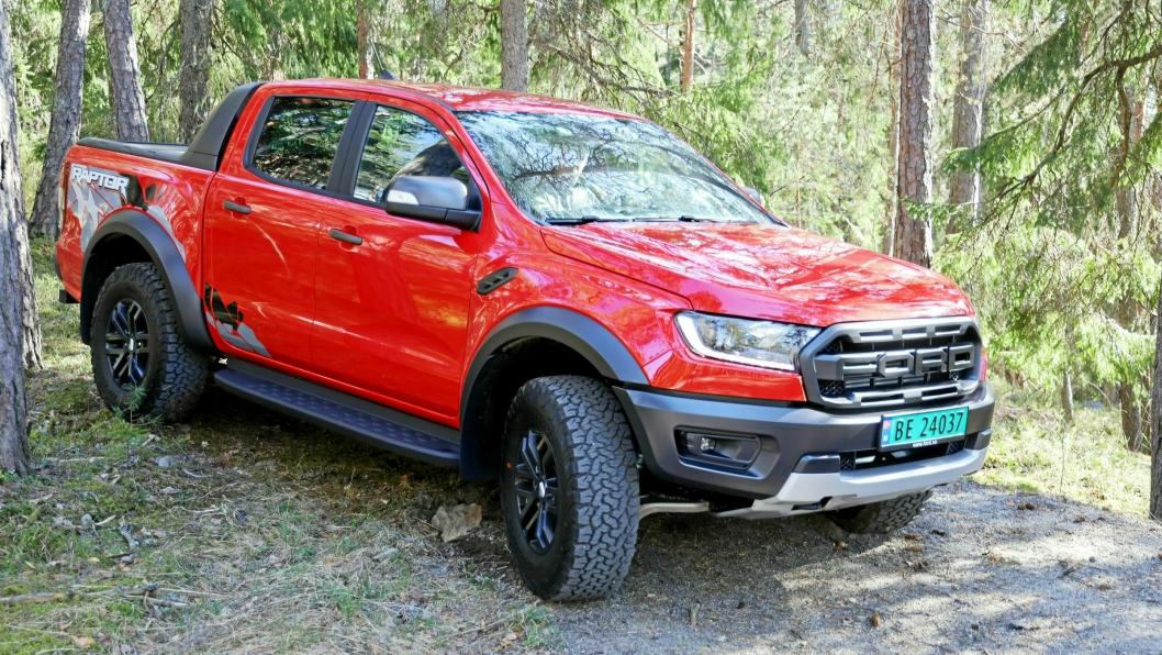 Ford Ranger Raptor har vært en ubetinget suksess for den norske importøren. Hittil i år er nærmere halvparten av Ranger-registreringene Raptor-versjonen.