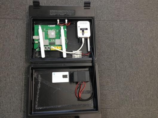 PROTOTYPEN: Dette er den første kofferten Jon Are Wethal og hans kollegaer lager for seks år siden.