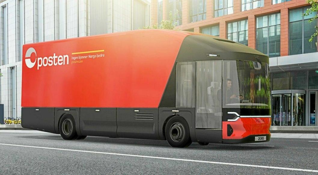 TESTES UT: Posten og Bring vil teste ut den elektriske lastebilen fra Volta Zero i bymiljøer.