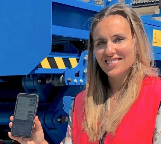 DIGITALE INITIATIV: Supply Chain Planner & Developer i Ramirent Norge, Annikken B. Nygaard, ser frem til å videreutvikle appen.
