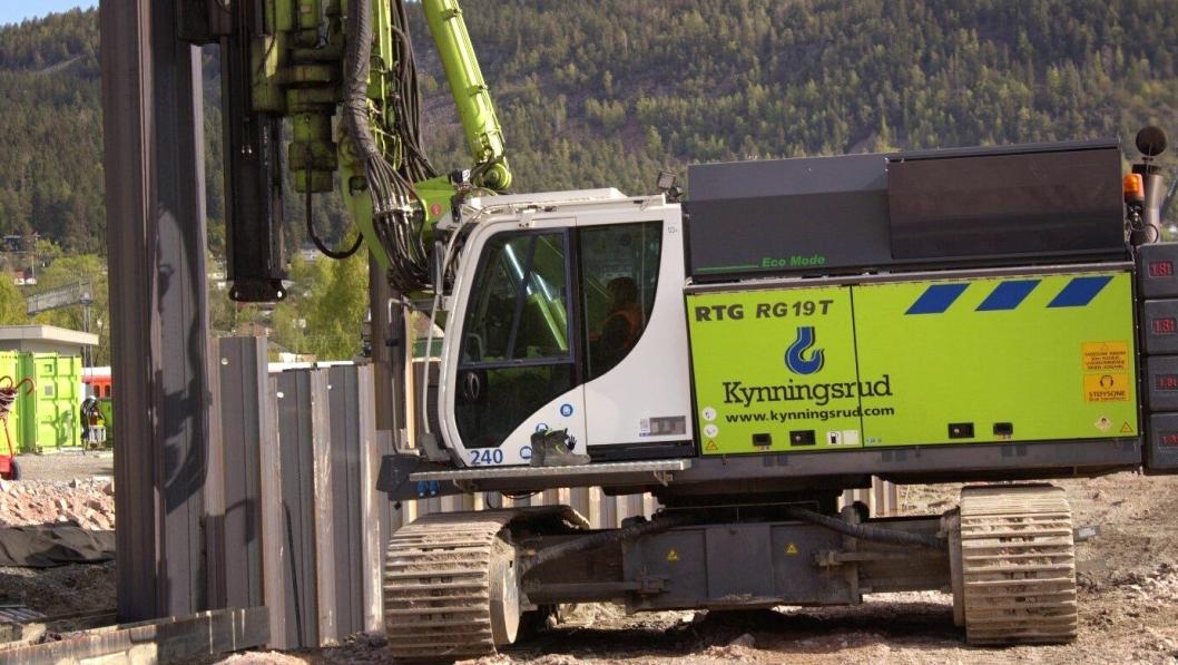 Spunting utgjør hoveddelen av Kynningsrud Fundamenterings nye store kontrakt.