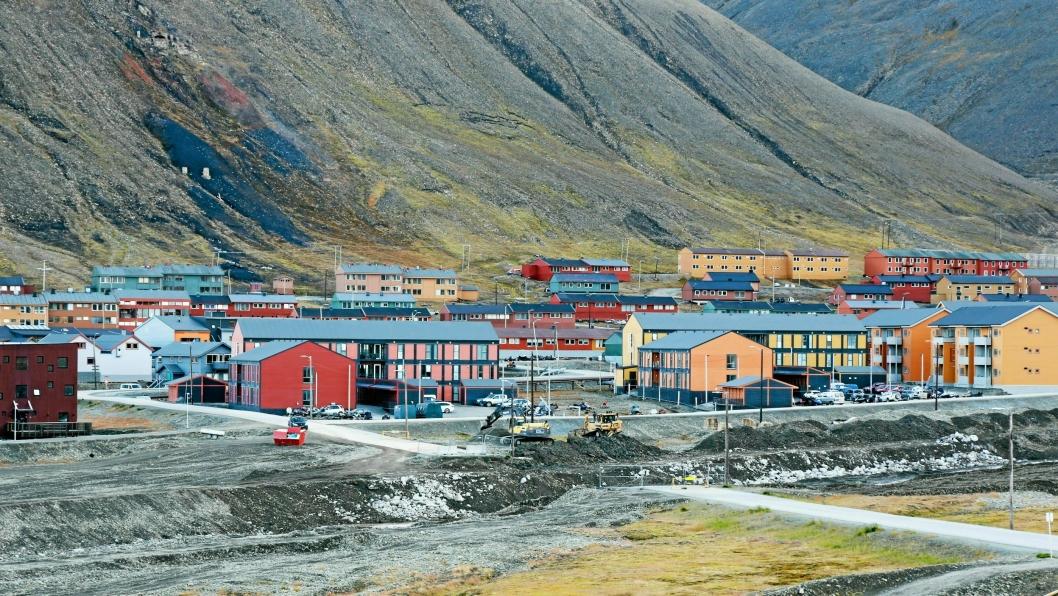 Longyearbyen på Svalbard Skal skredsikres.