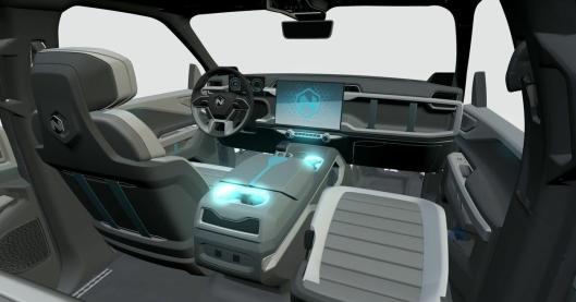 Interiøret er futuristisk, og skal være designet for fleksibilitet.