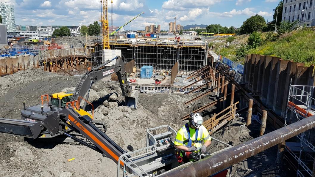 Bilde fra Follobanen-prosjektet ved Oslo S der Cautus Geo var involvert.