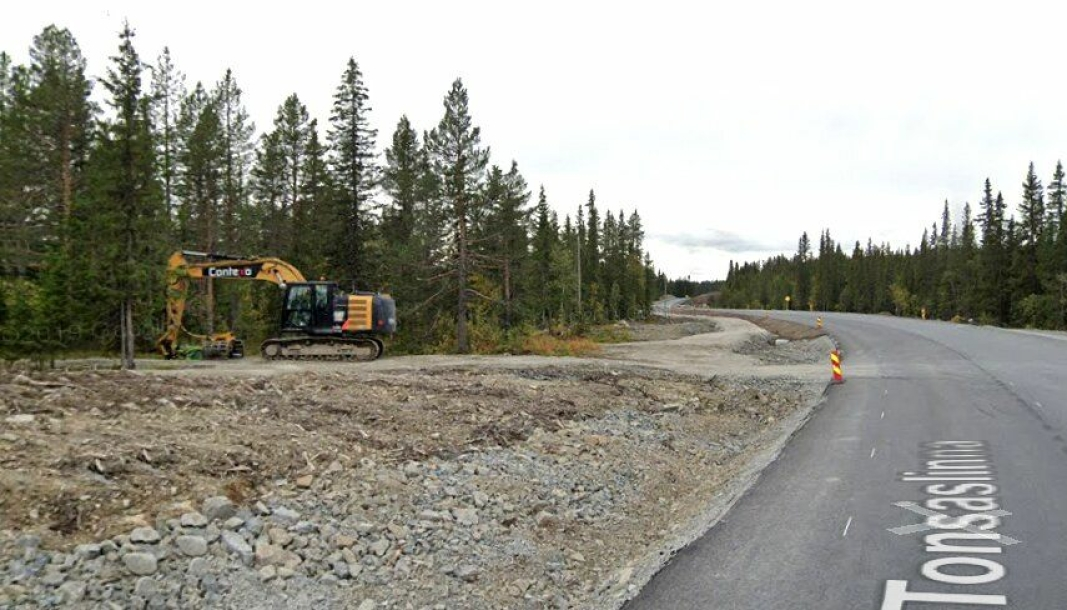 Bilde fra fylkesvei 33 Tonsåsen i september 2019.