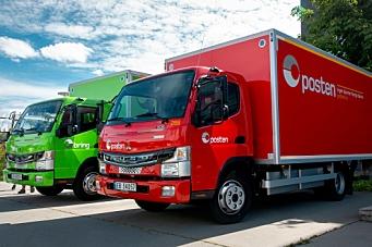 Posten med elektriske lastebiler i Oslo