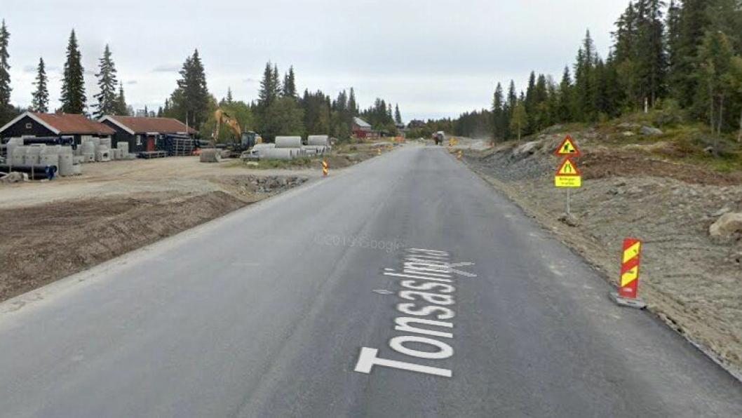 Bilde fra fylkesvei 33 Tonsåslinna september 2019, da Contexo arbeidet på veiprosjektet.