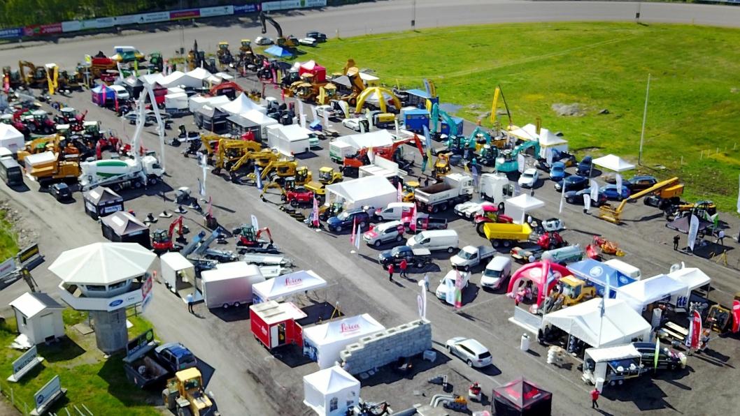 Anleggsmessa arrangeres hvert tredje år på Sørlandets Travpark i Kristiansand. Bildet er fra 2017.