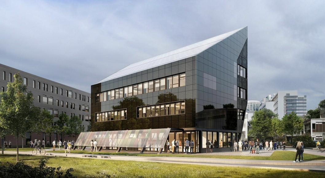 ZEB-LABORATORIET: Slik blir det nye ZEB-laboratoriet i Trondheim når det står ferdig i løpet av året.