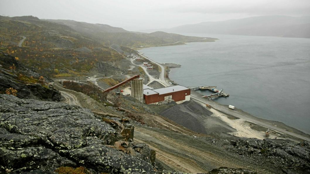 Dette er Nussir i Kvalsund kommune i Finnmark. Her utskipningsområdet som ligger i Repparfjorden. Snart blir det aktivitet her.