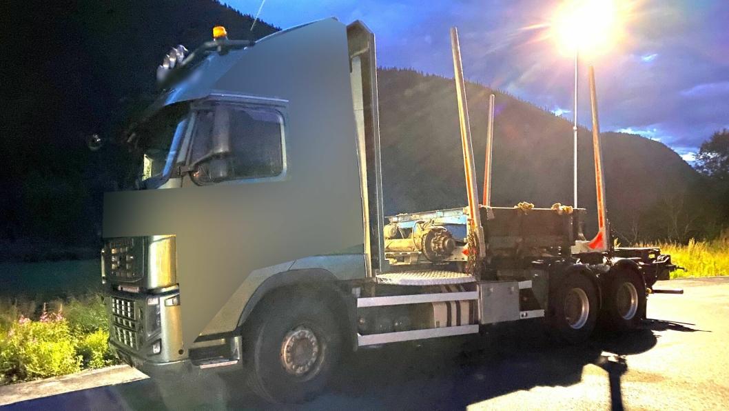Det var ikke gitt tillatelse til å frakte gods på denne lastebilen.