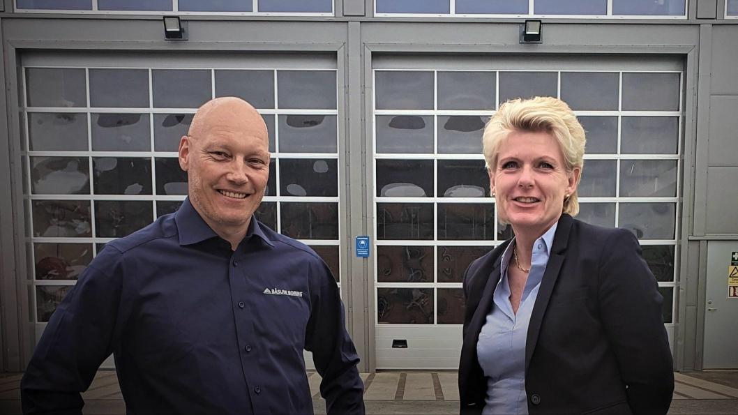Daglig leder i Båsum Boring AS, Dag Espen Båsum, og daglig leder i Båsum Boring Trøndelag, Hilde Anita Grandetrø.