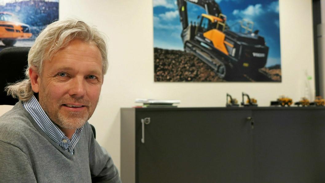 Gunnar Thorud slutter som adm. direktør Volvo Maskin AS, for å gå over i en ny stilling i Volvo CE i Sverige.Foto: Bjørn E. Eriksen