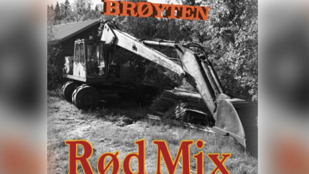Coveret til «Brøyten» av bandet Rød Mix.